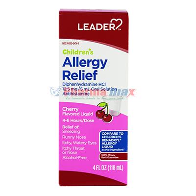 Leader Allergy Relief Childrens Cherry 4oz