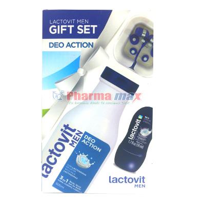 Lactovit Men Deo Action or Active Revitalizing Gift Set